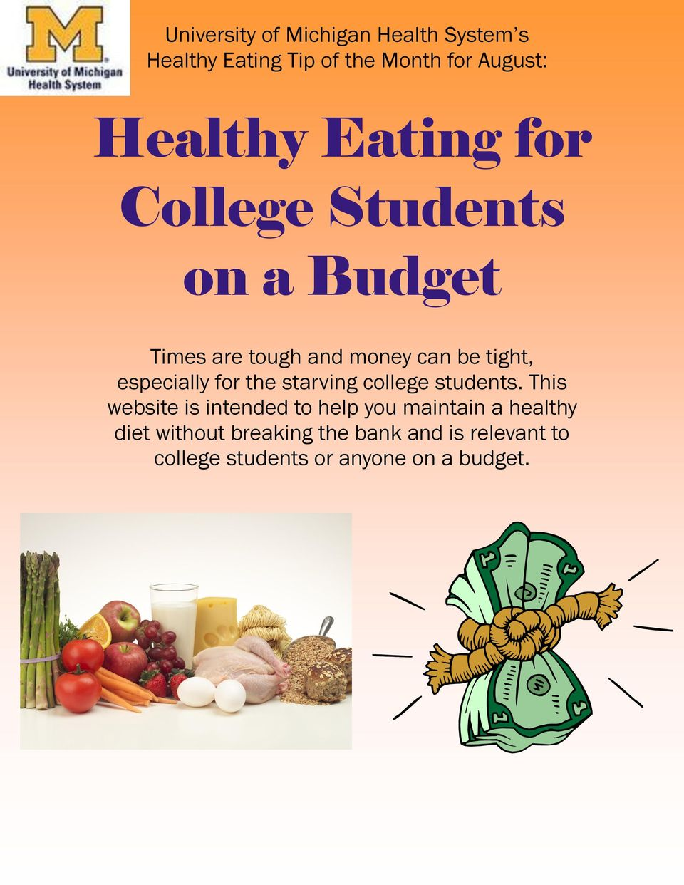 for the starving college students.