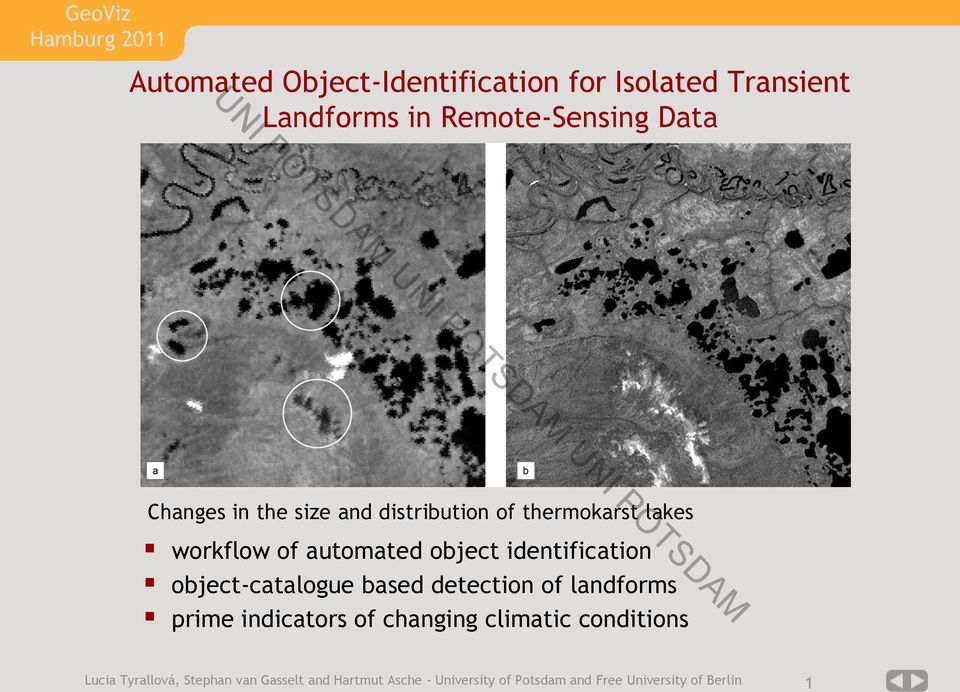 object-catalogue based detection of landforms prime indicators of changing climatic conditions