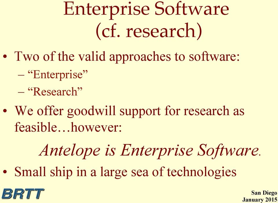 Enterprise Research We offer goodwill support for