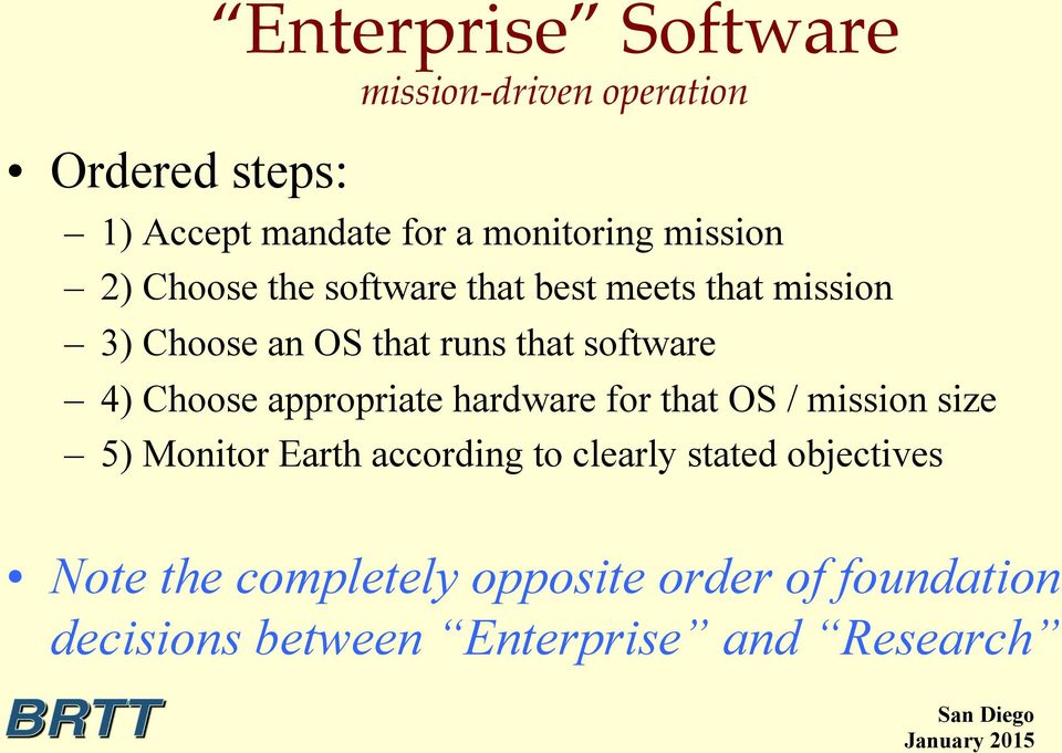 best meets that mission 3) Choose an OS that runs that software 4) Choose appropriate hardware for