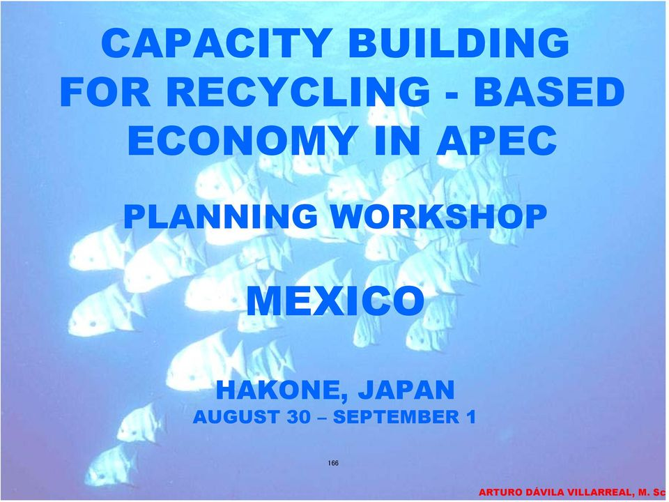 APEC PLANNING WORKSHOP MEXICO