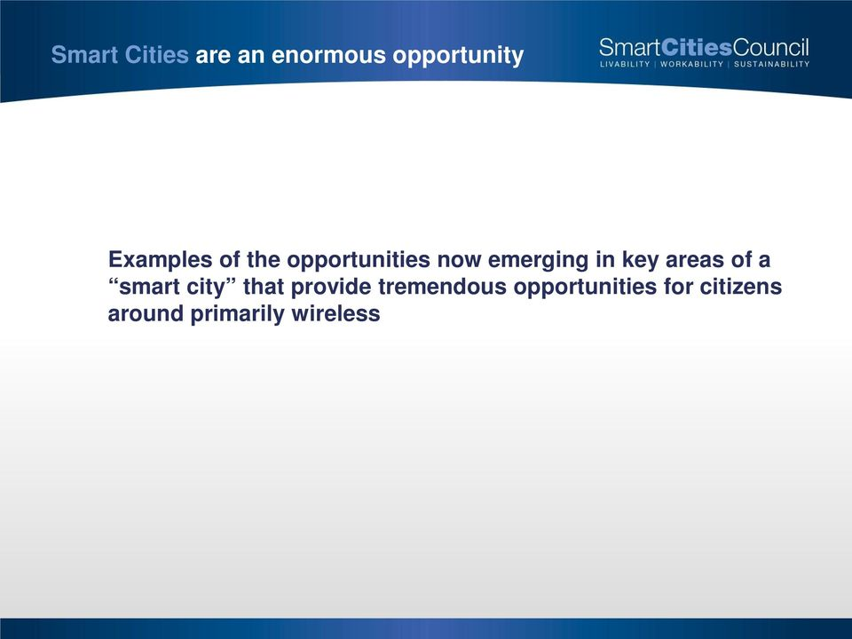 key areas of a smart city that provide