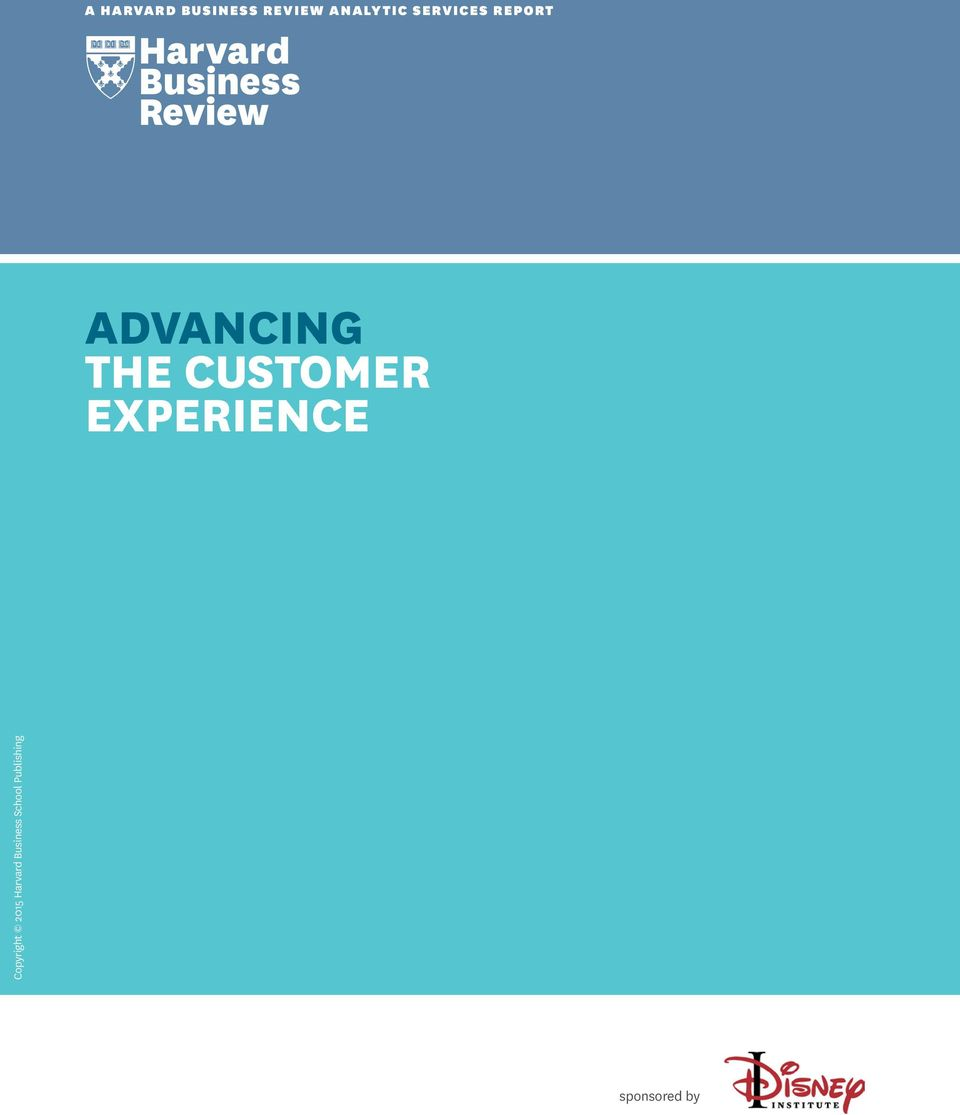 CUSTOMER EXPERIENCE Copyright 2015