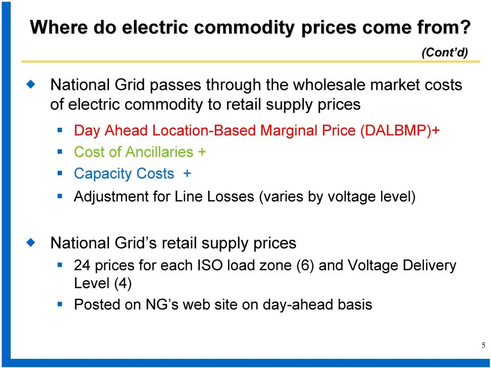 Day Ahead Location-Based Marginal Price (DALBMP)+ Cost of Ancillaries + Capacity Costs + Adjustment for Line