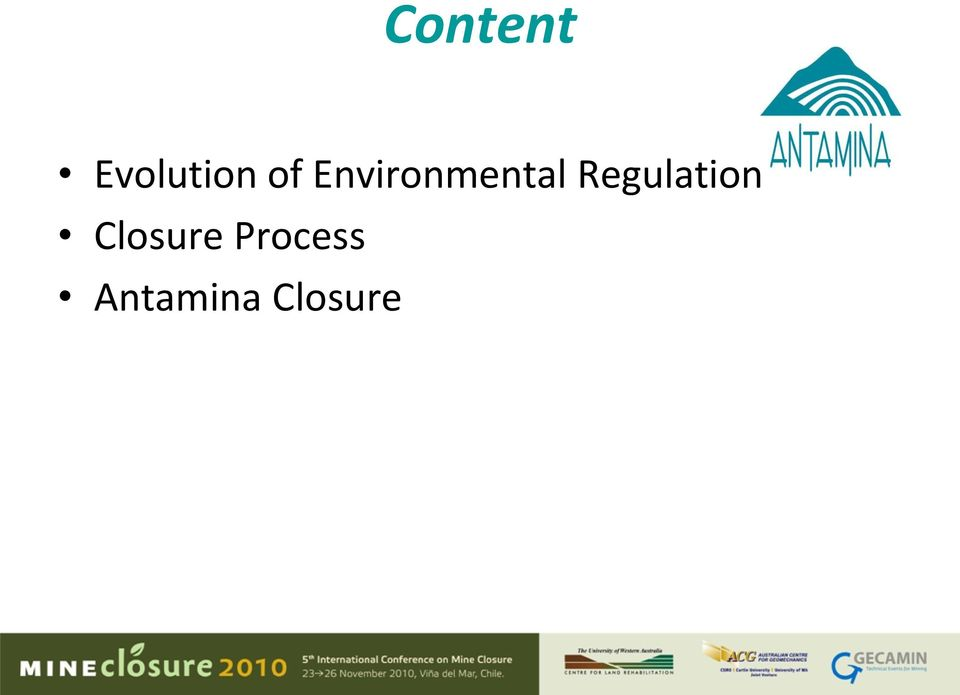 Regulation Closure