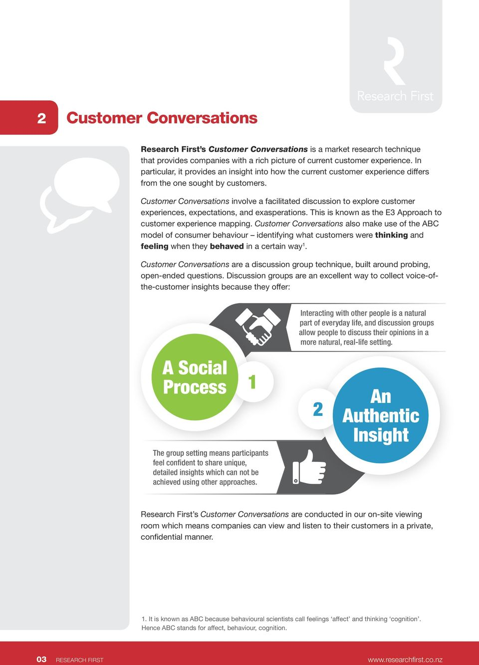 Customer Conversations involve a facilitated discussion to explore customer experiences, expectations, and exasperations. This is known as the E3 Approach to customer experience mapping.