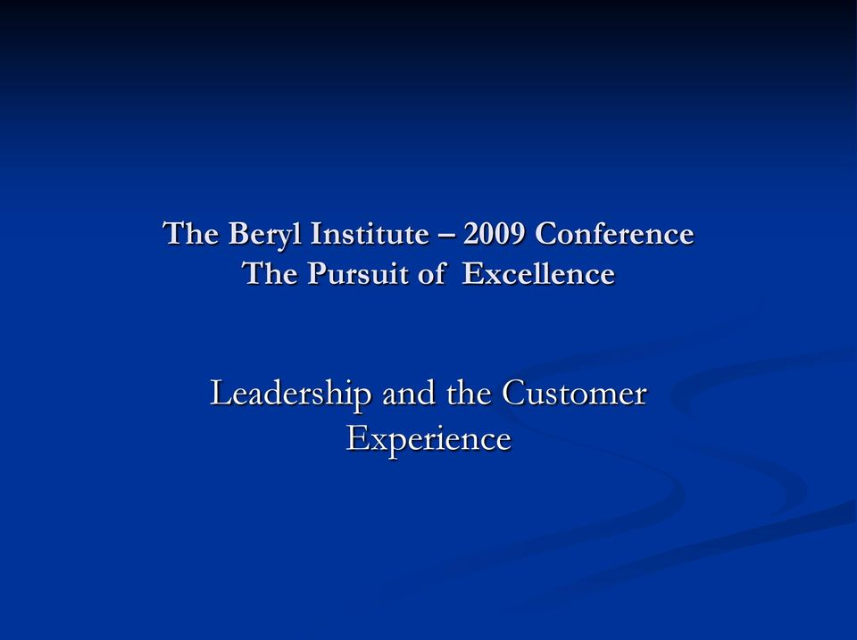 of Excellence Leadership