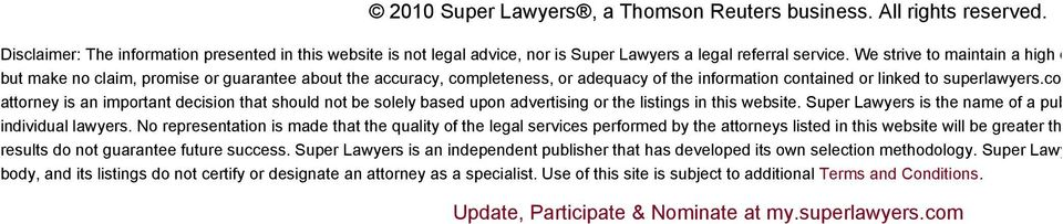 com and its associ attorney is an important decision that should not be solely based upon advertising or the listings in this website. Super Lawyers is the name of a publication.
