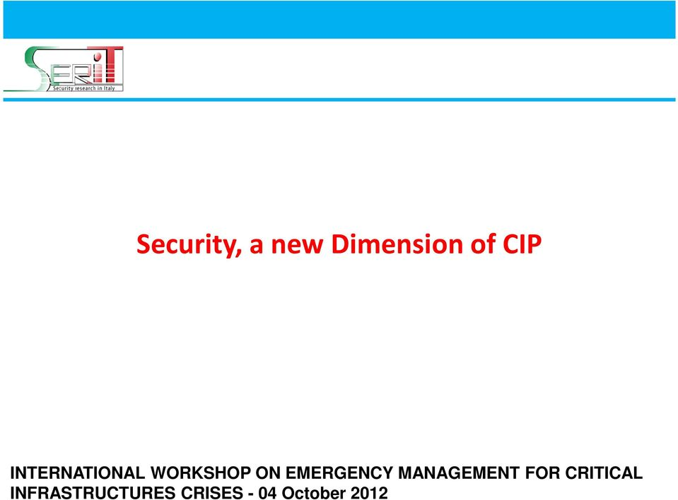 EMERGENCY MANAGEMENT FOR CRITICAL