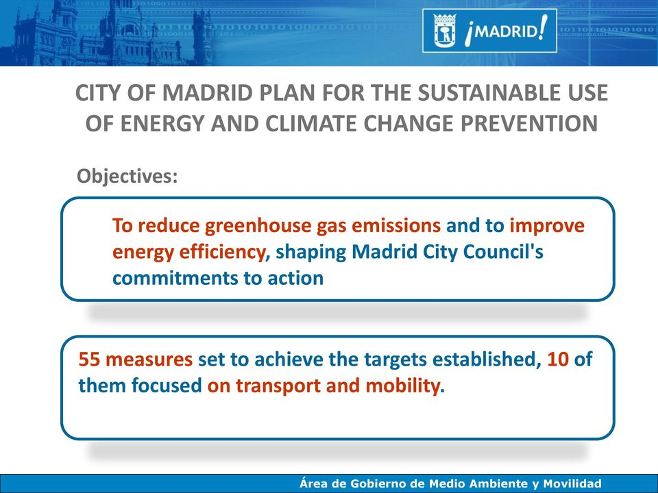 energy efficiency, shaping Madrid City Council's commitments to action 55