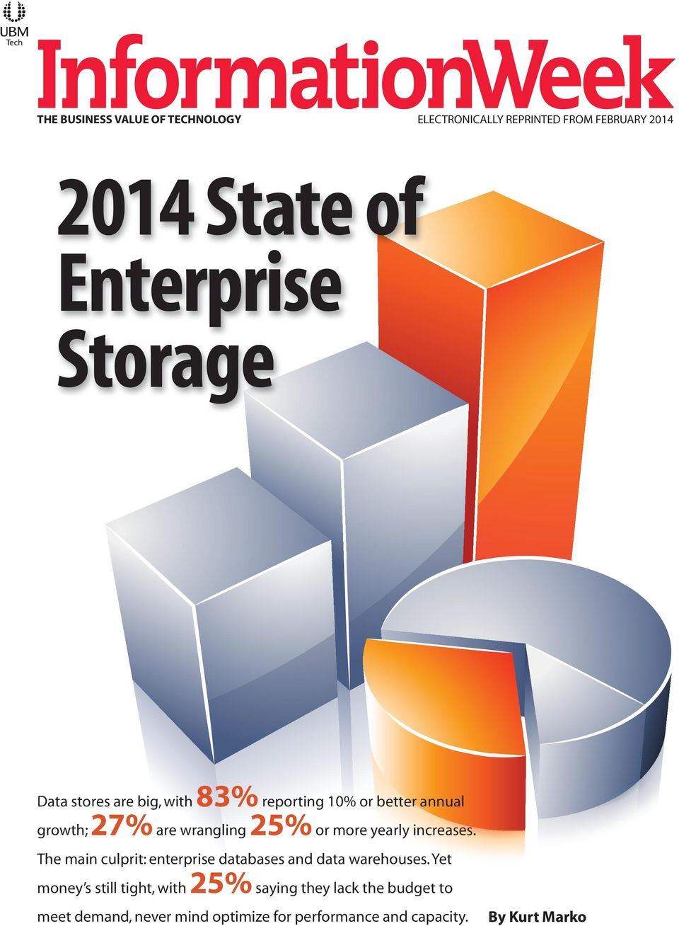 yearly increases. The main culprit: enterprise databases and data warehouses.