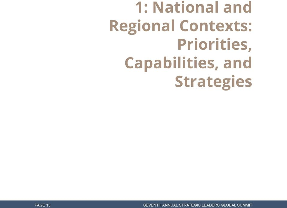 Capabilities, and Strategies