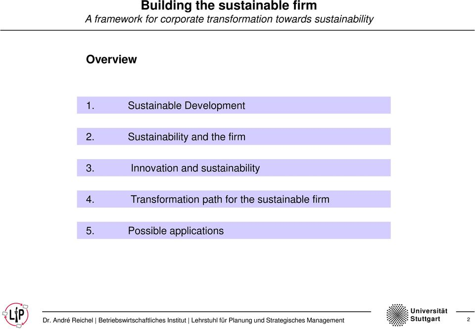 Innovation and sustainability 4.