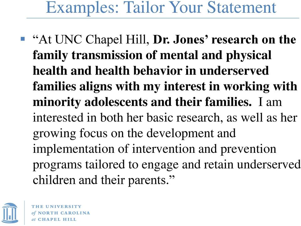 aligns with my interest in working with minority adolescents and their families.