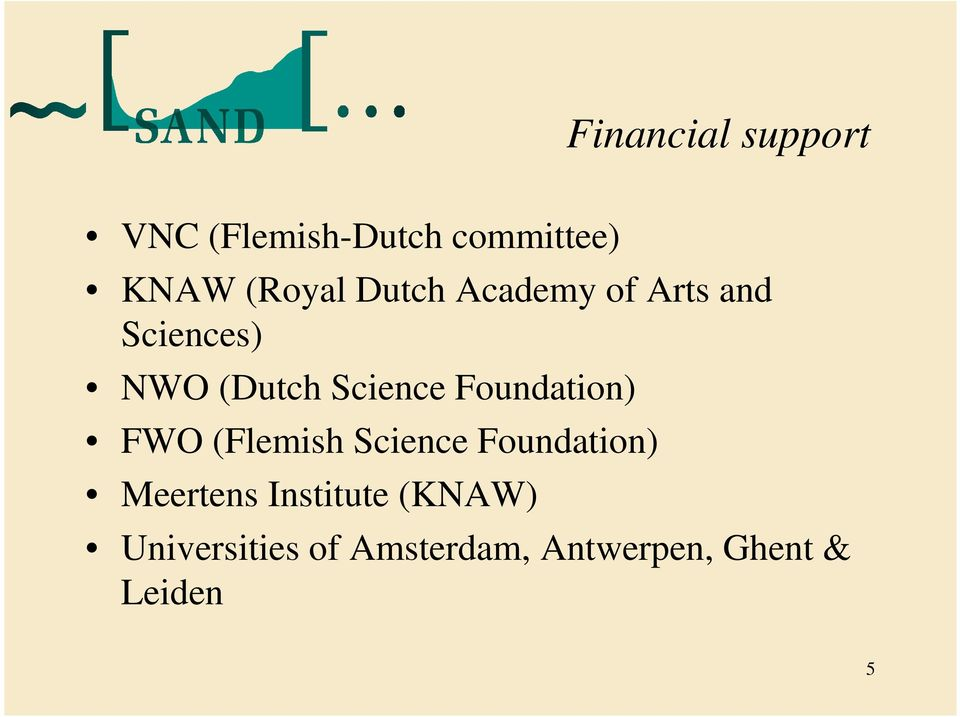 Foundation) FWO (Flemish Science Foundation) Meertens