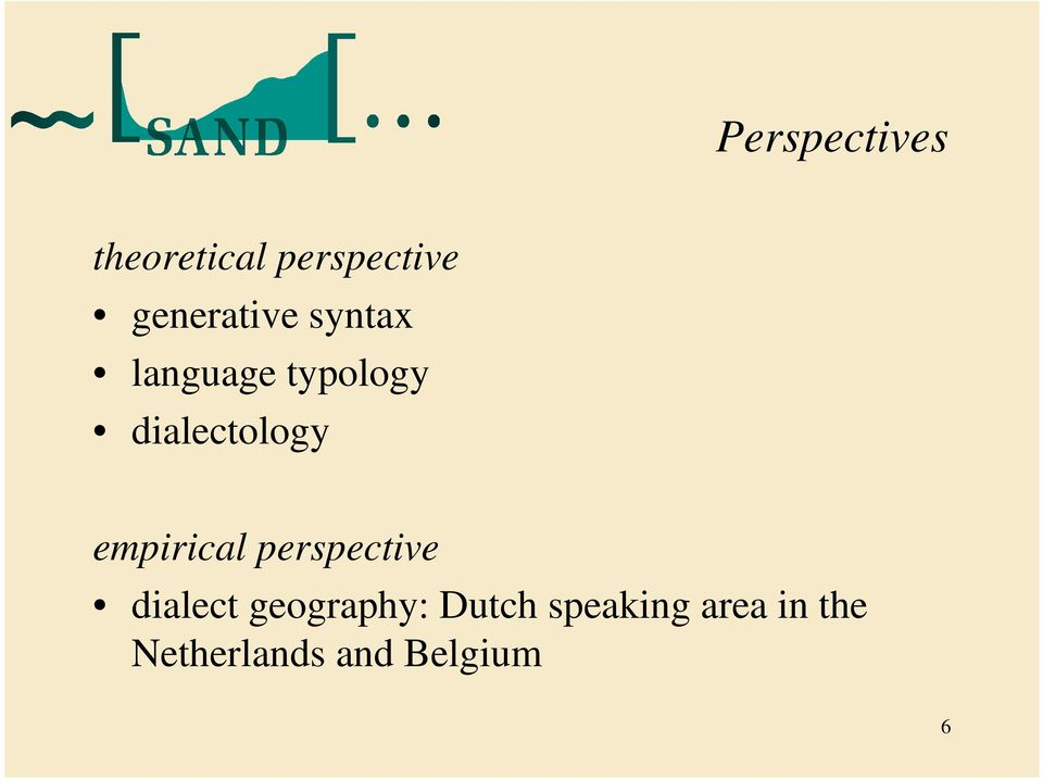 dialectology empirical perspective dialect