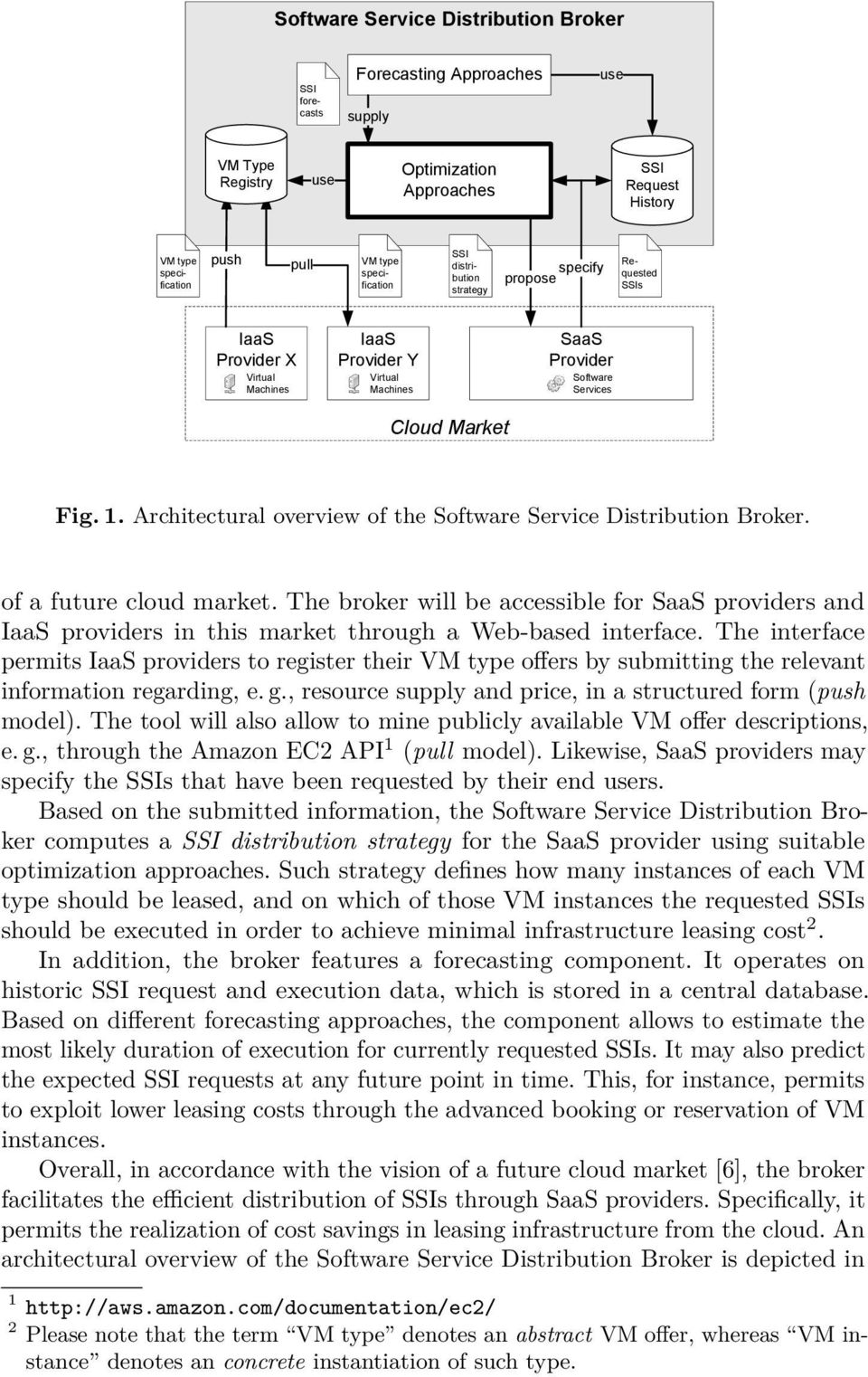 Architectural overview of the Software Service Distribution Broker. of a future cloud market.