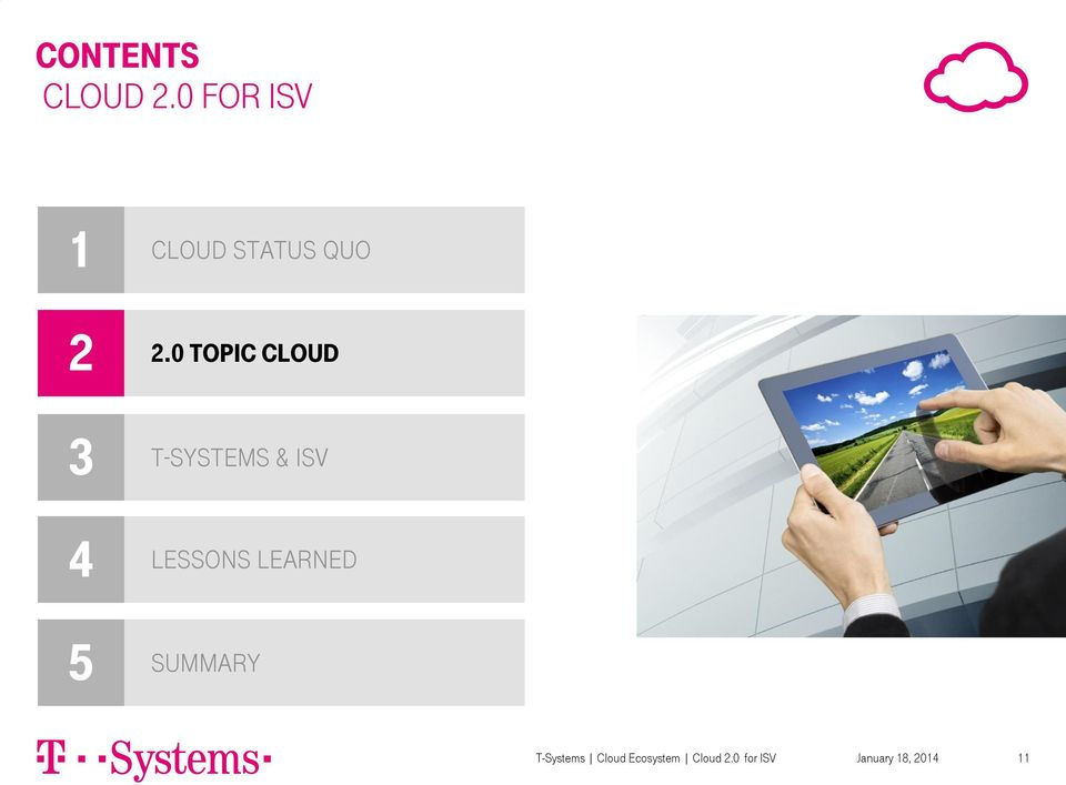 0 topic cloud 3 4 5 T-Systems & ISV Lessons