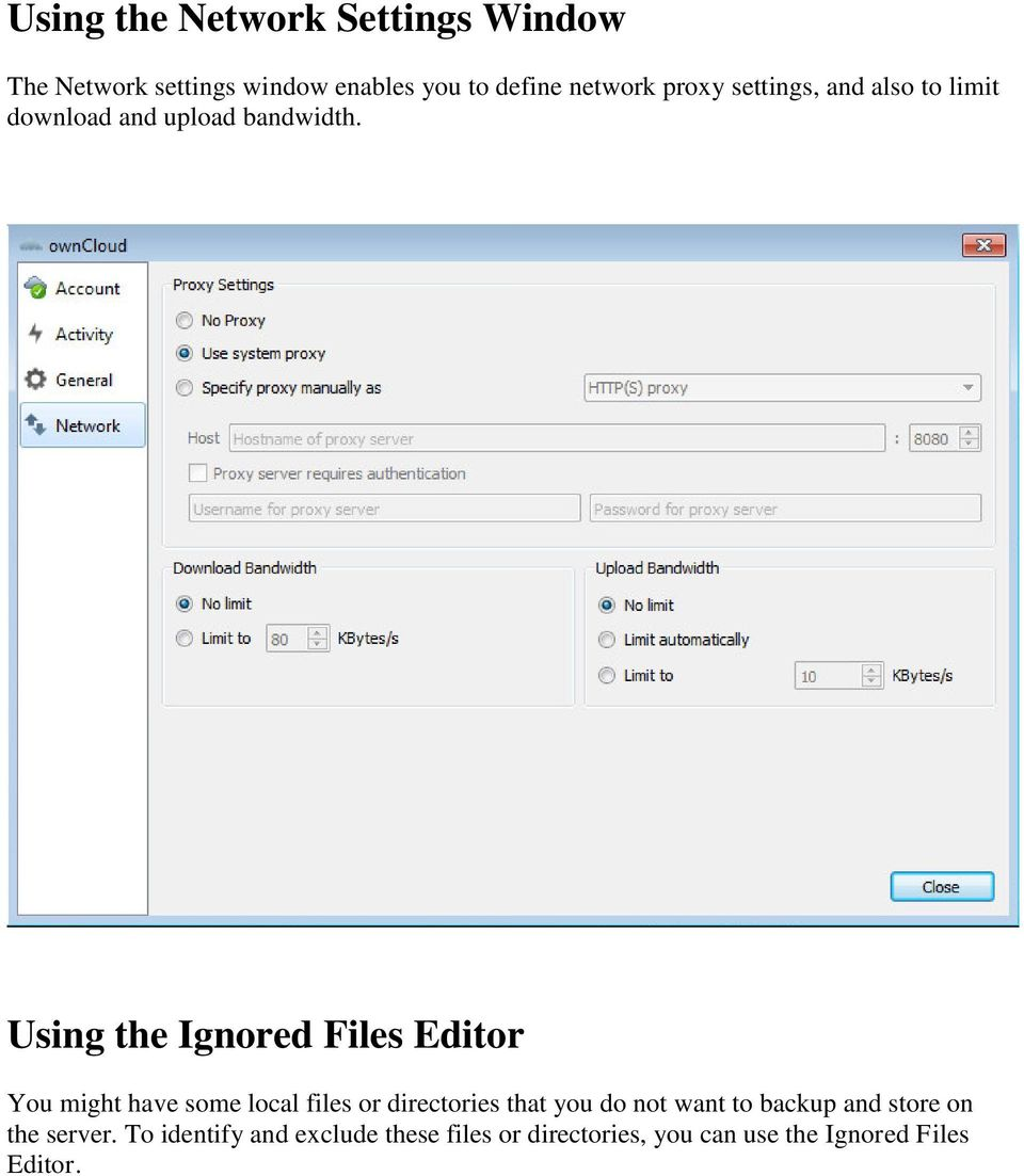Using the Ignored Files Editor You might have some local files or directories that you do not