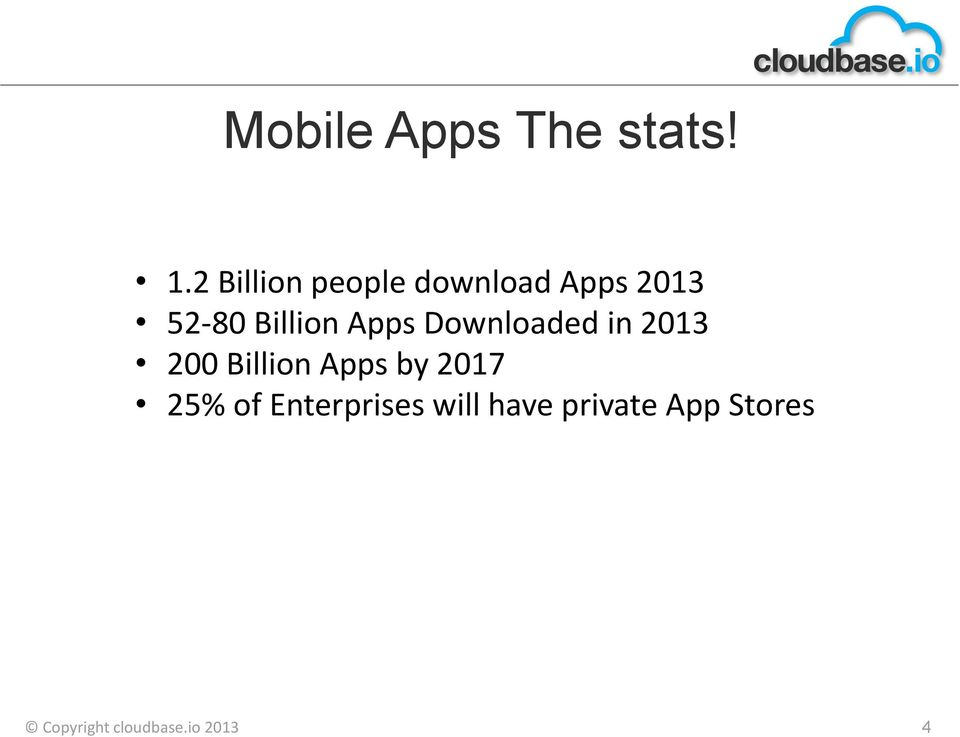 Apps Downloaded in 2013 200 Billion Apps by 2017