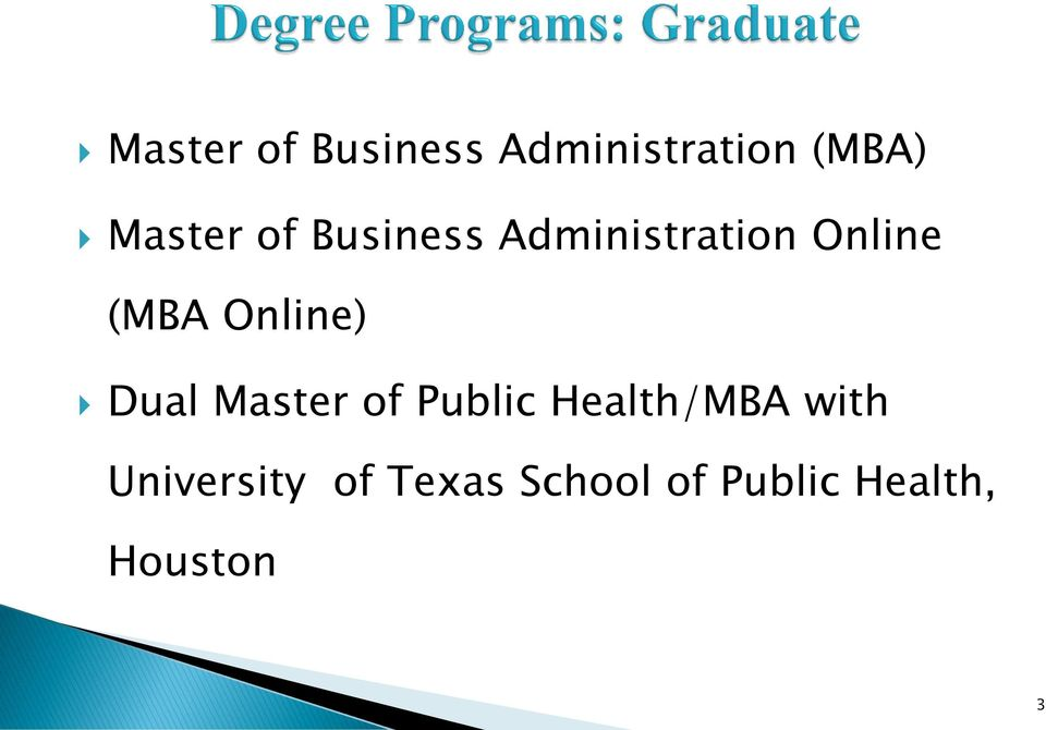 Dual Master of Public Health/MBA with