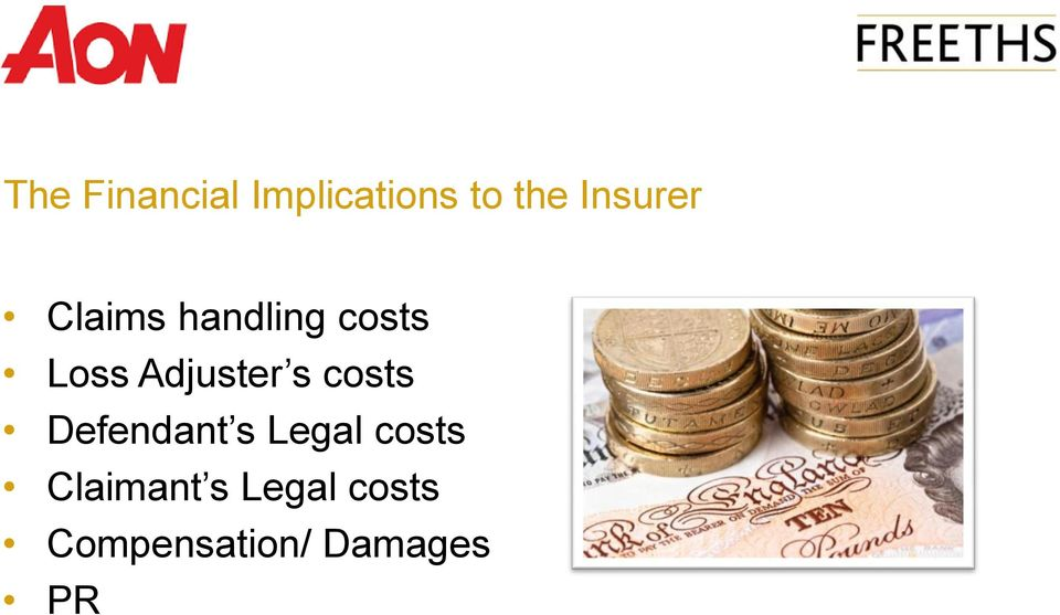 Adjuster s costs Defendant s Legal
