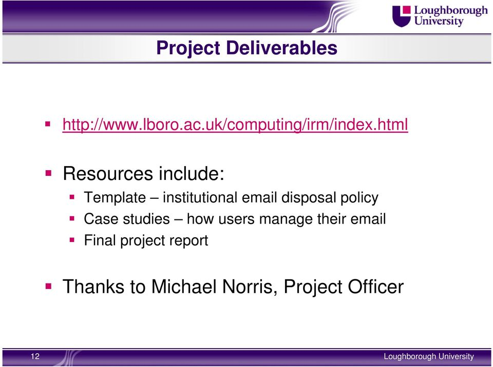 html Resources include: Template institutional email