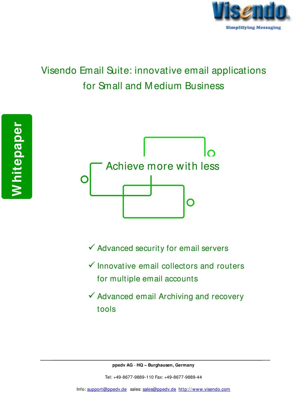 Advanced security for email servers Innovative email collectors and