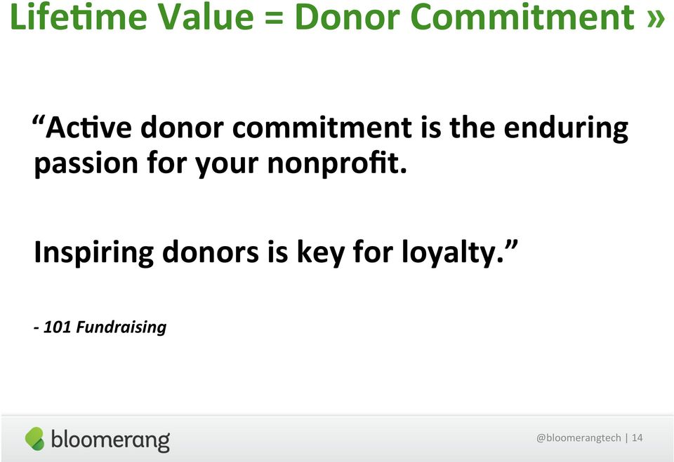 for your nonprofit.