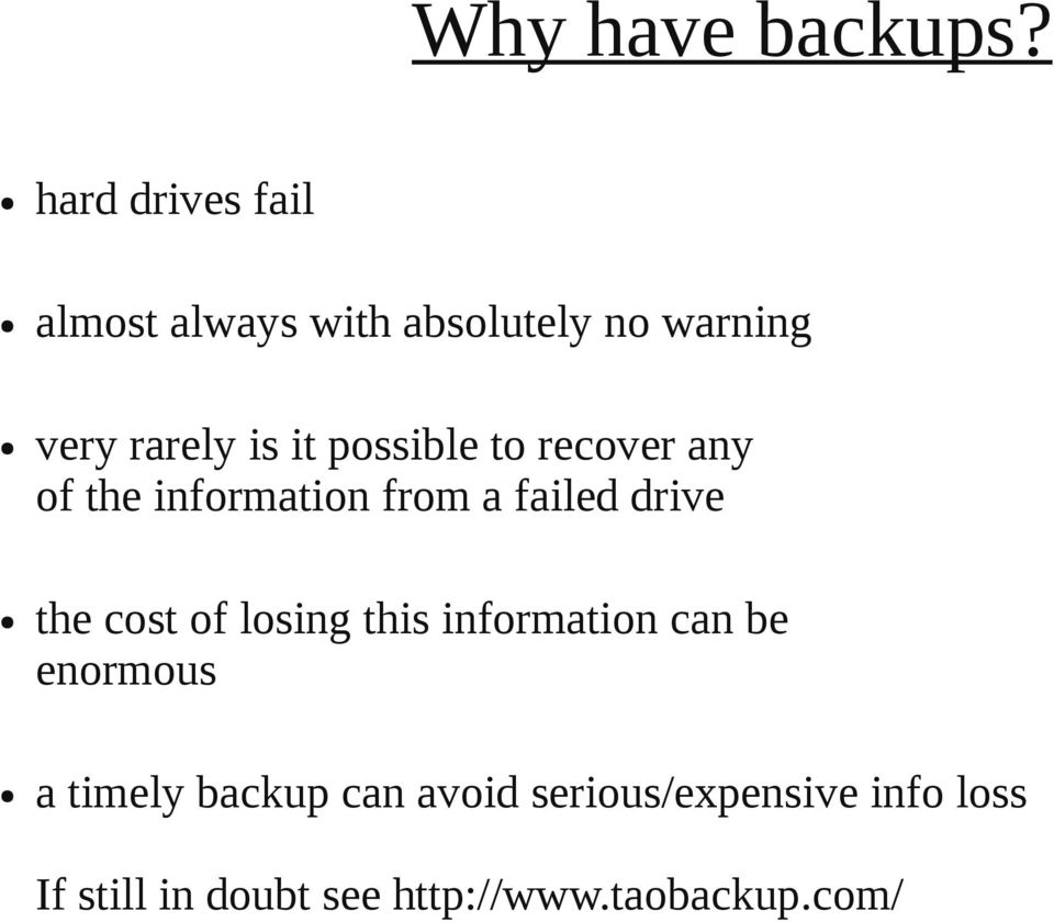 possible to recover any of the information from a failed drive the cost of