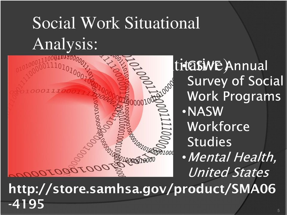Programs NASW Workforce Studies Mental Health,
