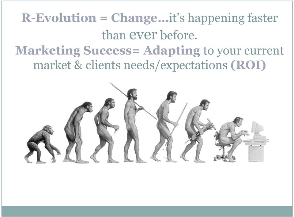 Marketing Success= Adapting to your
