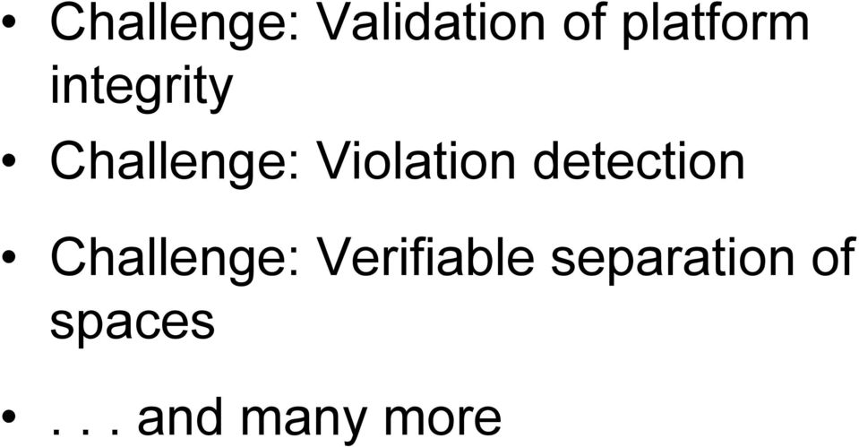 detection Challenge: Verifiable