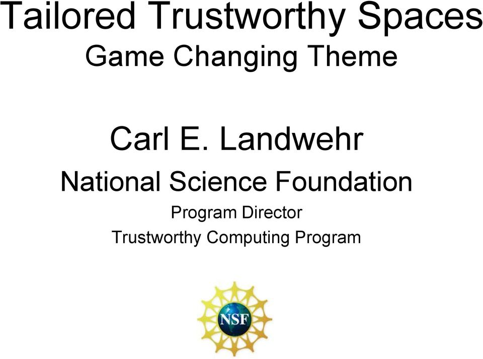 Landwehr National Science