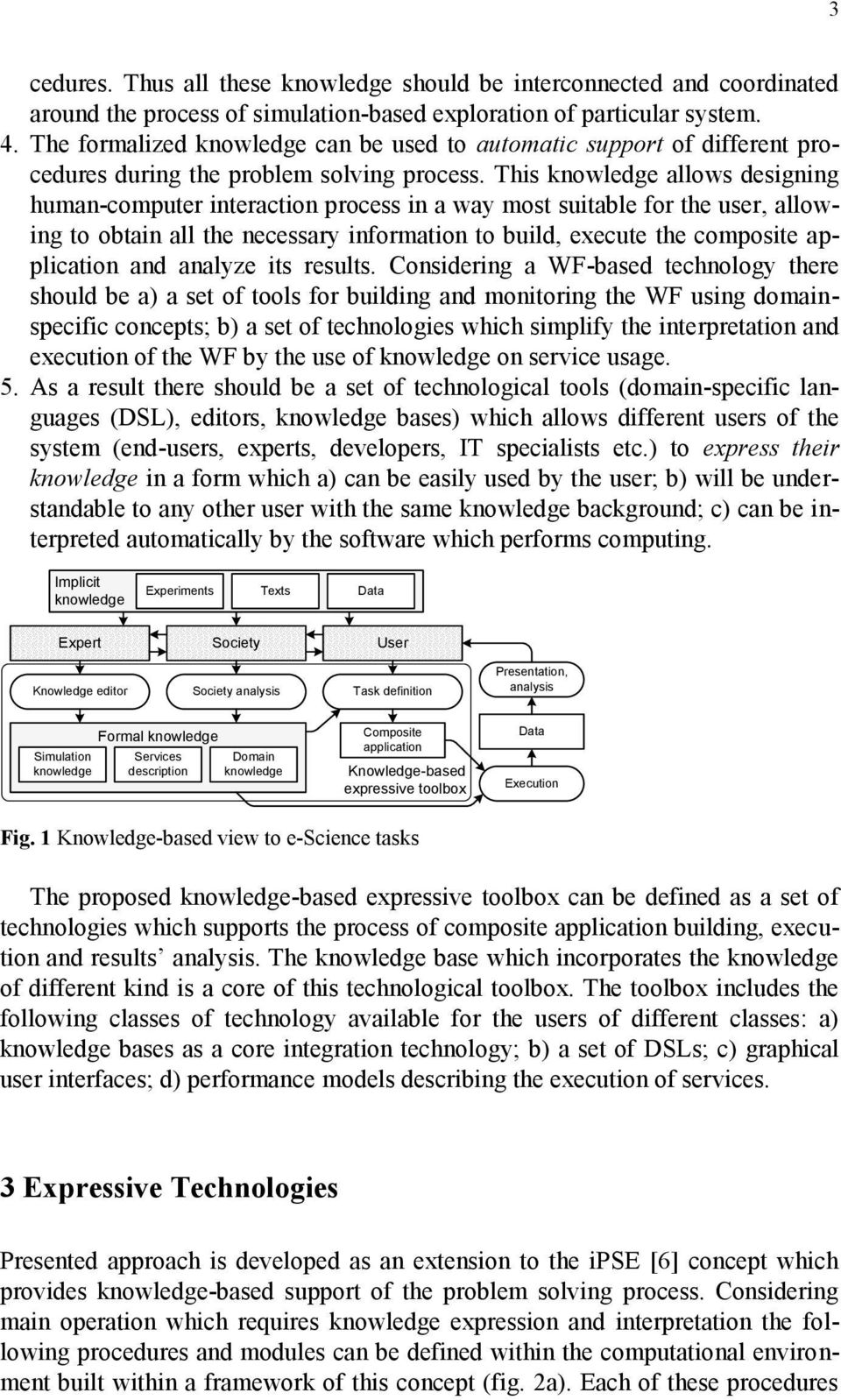 This knowledge allows designing human-computer interaction process in a way most suitable for the user, allowing to obtain all the necessary information to build, execute the composite application