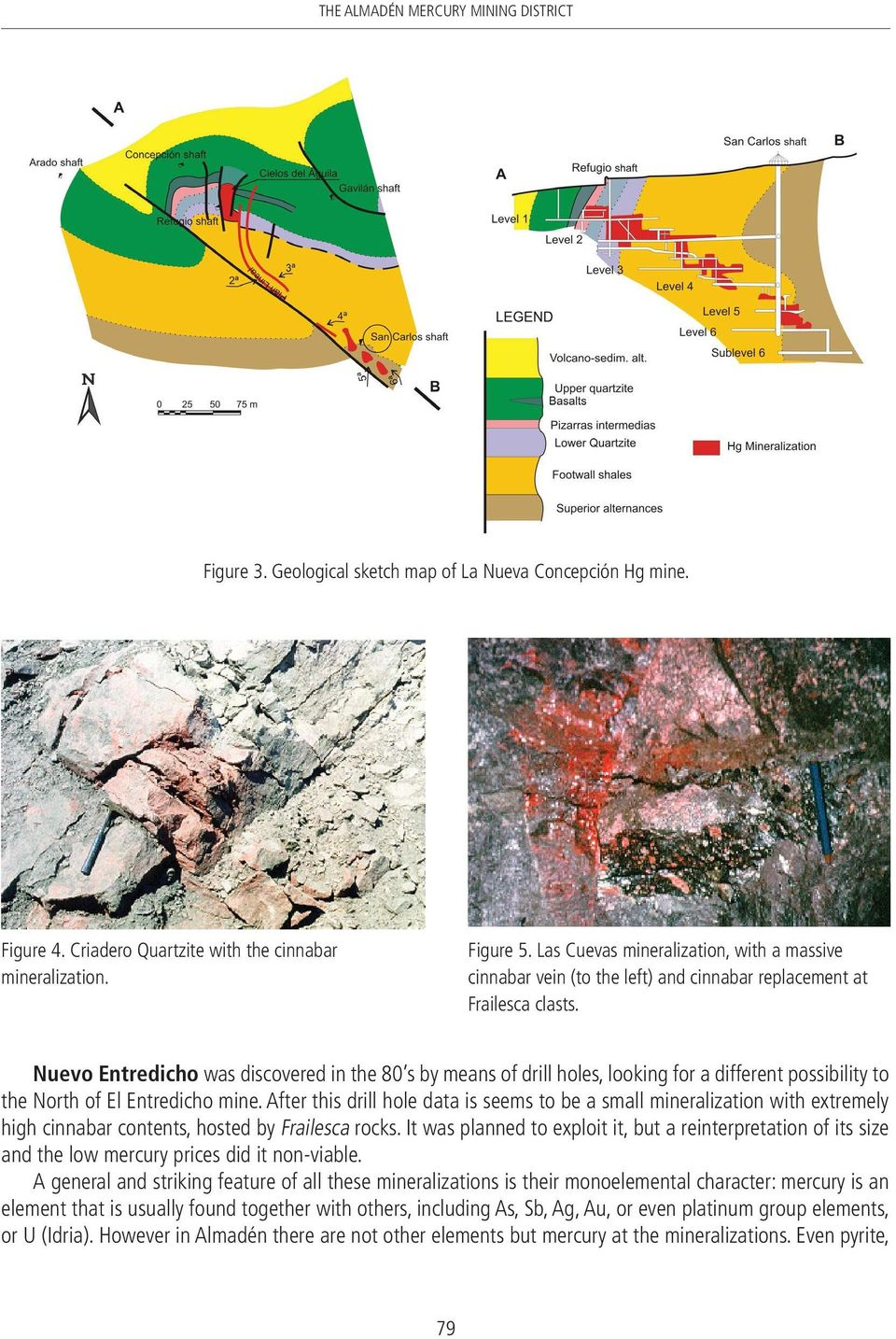 Nuevo Entredicho was discovered in the 80 s by means of drill holes, looking for a different possibility to the North of El Entredicho mine.