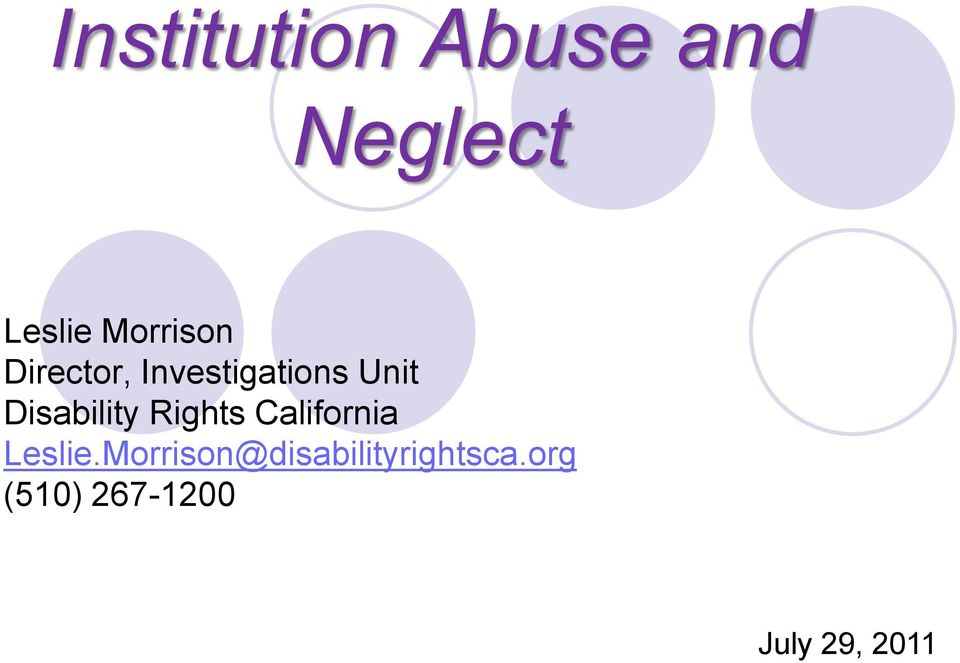 Disability Rights California Leslie.