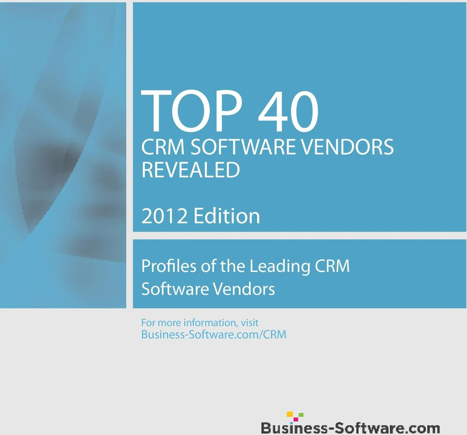 CRM Software Vendors For more