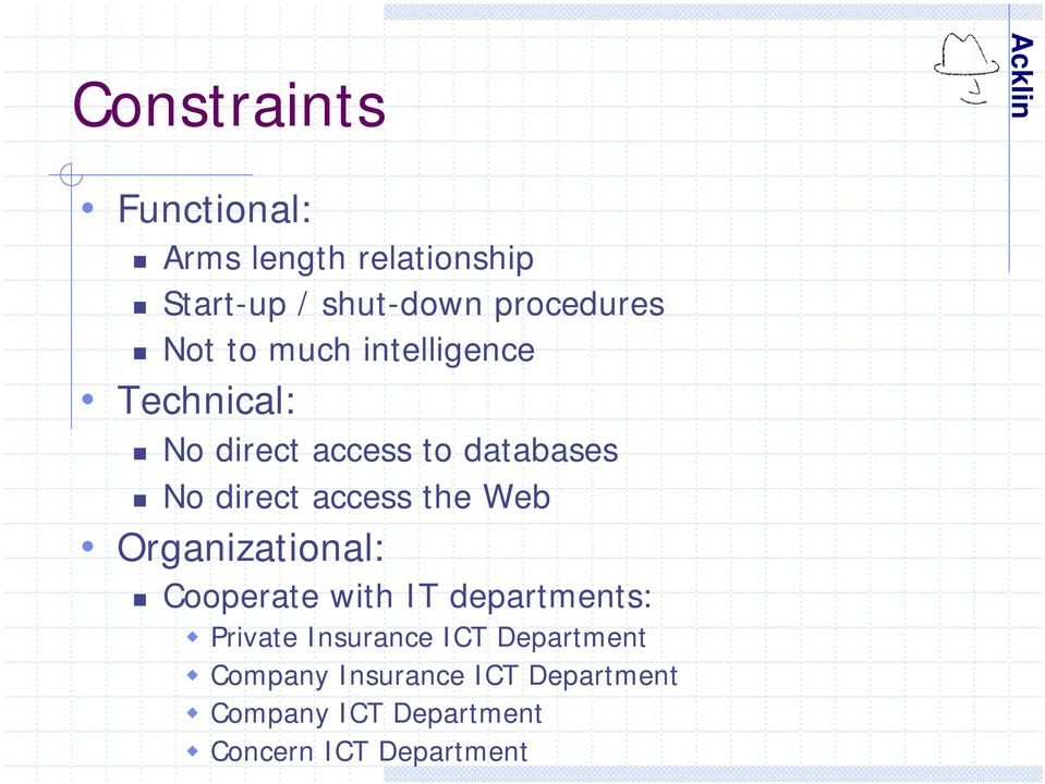 the Web Organizational: Cooperate with IT departments: Private Insurance ICT