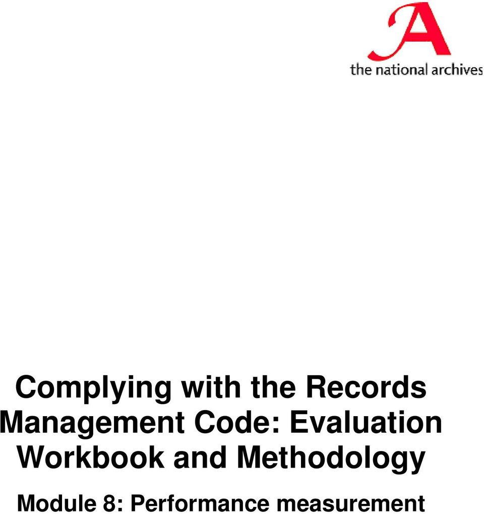 Workbook and Methodology