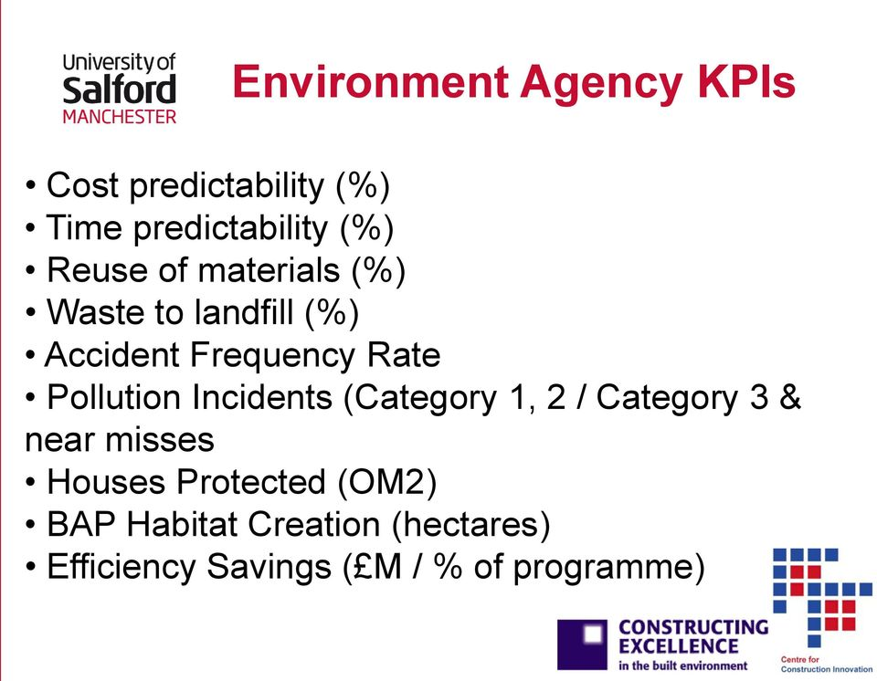 Pollution Incidents (Category 1, 2 / Category 3 & near misses Houses