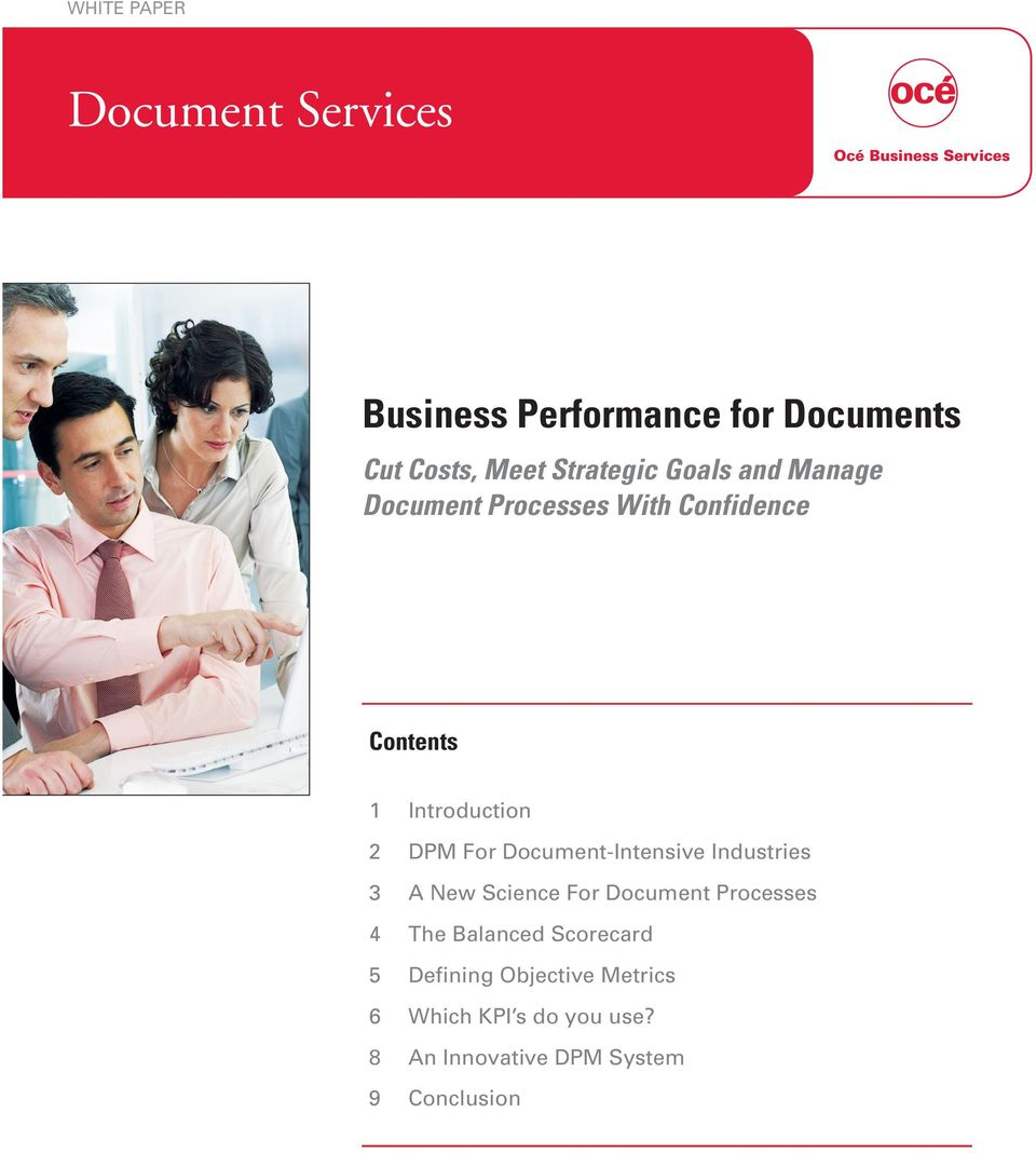 Introduction 2 DPM For Document-Intensive Industries 3 A New Science For Document Processes 4