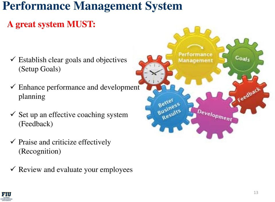 ddevelopment planning Set up an effective coaching system (Feedback)