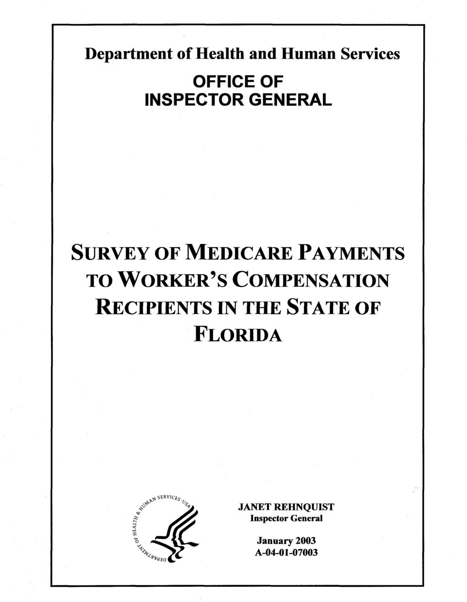 S COMPENSATION RECIPIENTS IN THE STATE OF FLORIDA