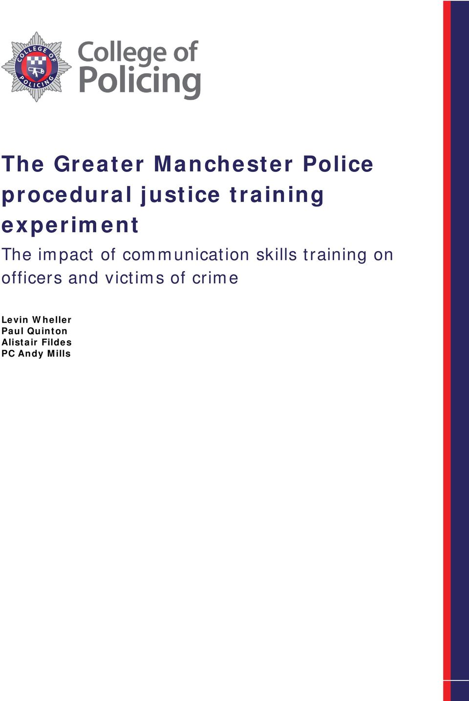 skills training on officers and victims of crime