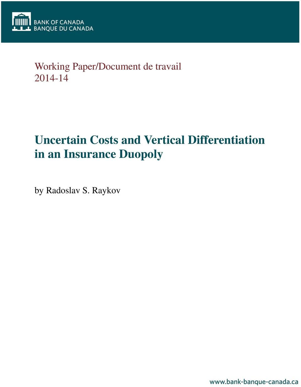 and Vertical Differentiation in