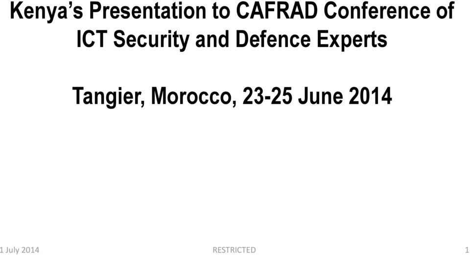 Defence Experts Tangier, Morocco,