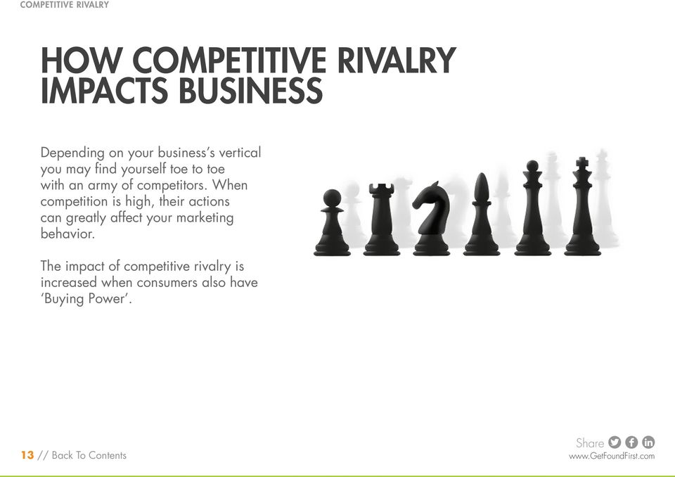 When competition is high, their actions can greatly affect your marketing behavior.