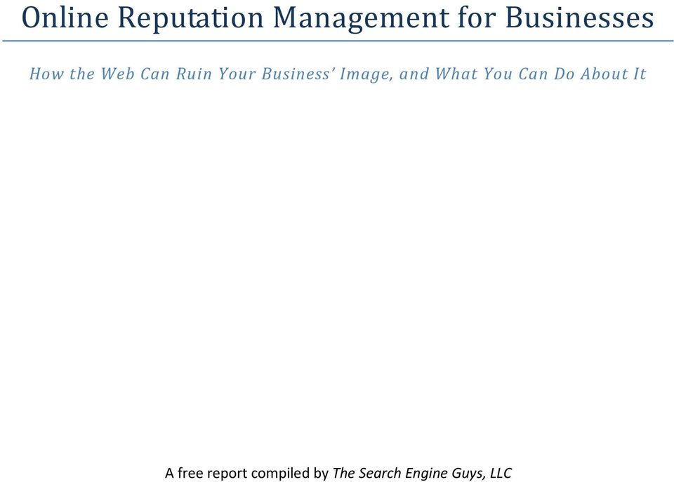 Business Image, and What You Can Do About