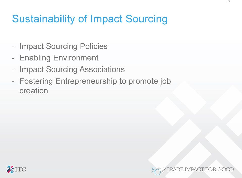 Environment - Impact Sourcing Associations